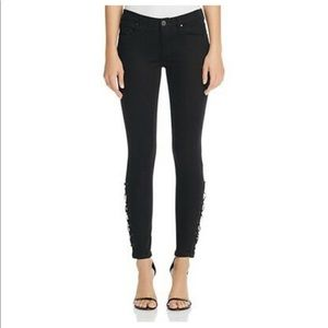 Blank NYC Lace-Up Ankle Jeans